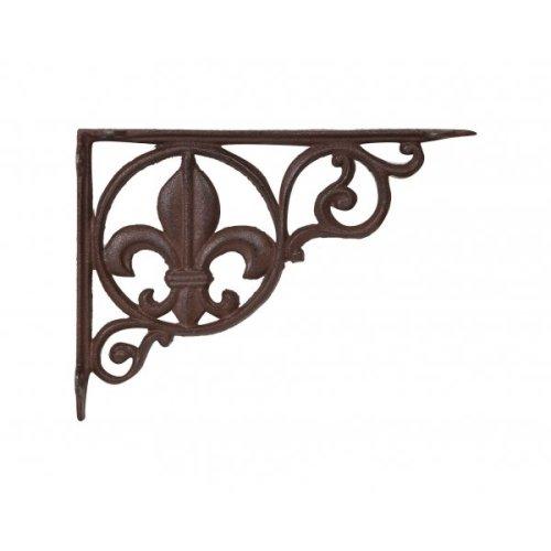 Cast Iron Made Antiqued Rust Finish  W23,3xp3xh17,5 Cm Sized Wall Shelf