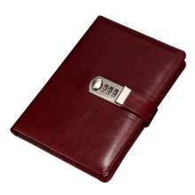 Creative Password Notebook With Lock Notebook Diary Business Notepad, Red
