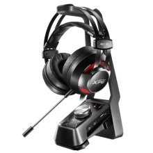 ADATA XPG EMIX H30 Gaming Headset with SOLOX F30 Amp, 53mm Drivers, Virtual 7.1, Stand, Black & Red