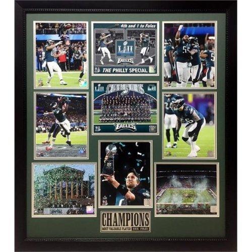 Encore Select 321-66 30 x 34 in. LII World Champions, Philadelphia Eagles - 9 Photo Collage