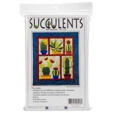 "Rachel's Of Greenfield Wall Quilt Kit 13""X15""-Succulents"
