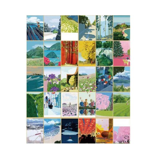 Postcard  Hand Set Painting Greeting Card Collection Set