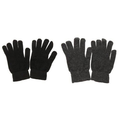 Mens Plain Magic Gloves With Wool