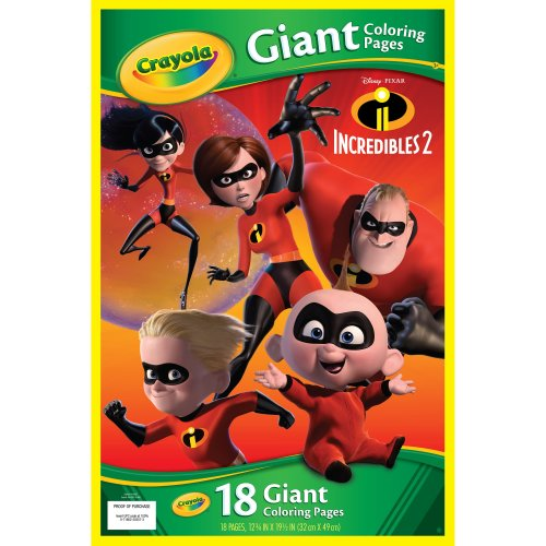 """Crayola Giant Coloring Pages 12.75""""X19.5""""-Incredibles"""