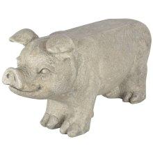 Esschert Design Stone Garden Bench Pig Grey AV13
