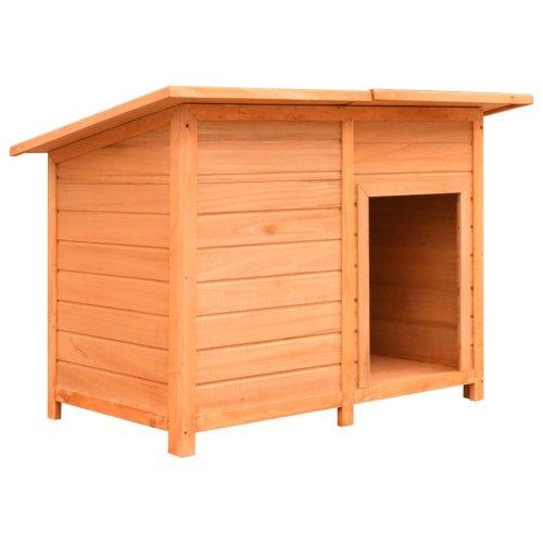 vidaXL Dog Cage Solid Pine & Fir Wood 120x77x86 cm