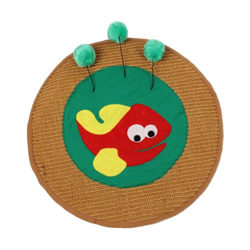 [Happy Fish] Pet Toy- Cat Scratching Pad/Board,Cat Mat,GREEN (43*43cm)