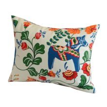 [Floral Horse] Zippered Decorative Throw Pillow Cover Cushion Case 30*40CM