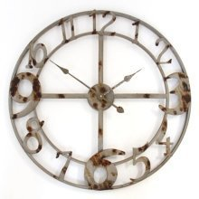 Vintage Zinc Skeleton Wall Clock