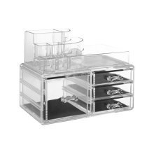 8 Compartment Cosmetics Organiser