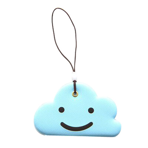 Set of 2 Luggage Tags Bag Tags Silicone Name Tags Travel Tags [Blue Cloud]