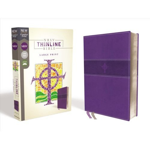 NRSV, Thinline Bible, Large Print, Leathersoft, Purple, Comfort Print