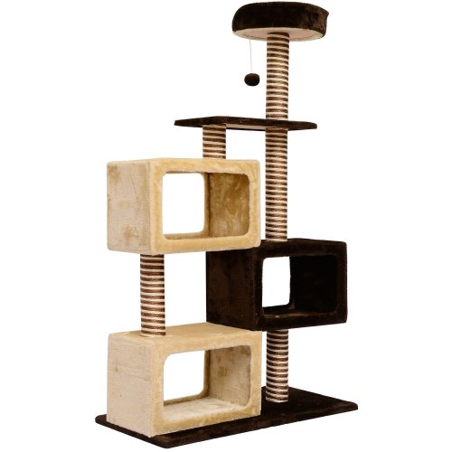 Pawhut Cat Cats Tree Kitten Scratching Scratch Scratcher Post Toy Climbing