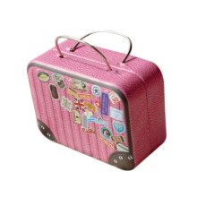 Rectangle Cute Pill Boxes Candy Metal Case Storage Box, Pink