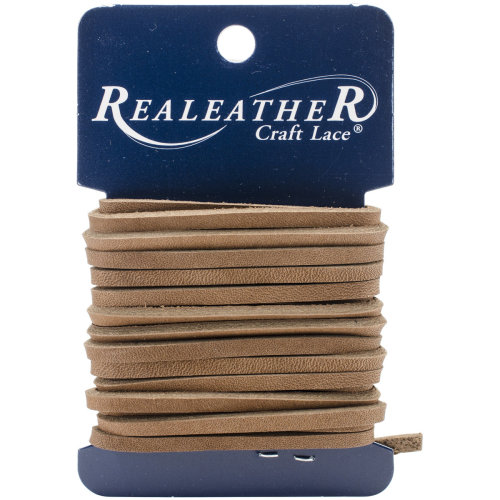 "Realeather Crafts Latigo Lace .125""X4yd Carded-Toffee"