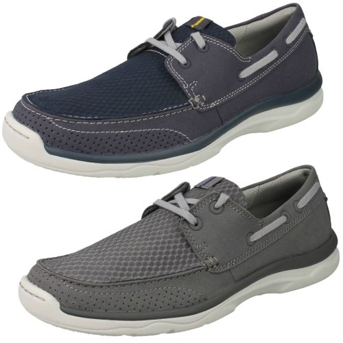 Mens Clarks Cloudsteppers Lace Up Casual Shoes Marus Edge - G Fit
