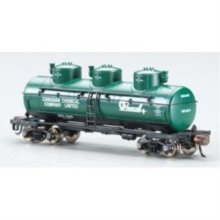 Bachmann Industries 3 Dome Tank Philadelphia Quartz Company Car, N Scale