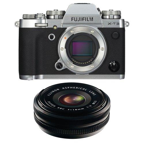FUJI X-T3 Silver + XF 18MM F2 R Black
