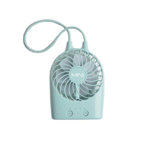 USB Rechargeable Fan Portable Fan Desk Fan for Office/Home, Green