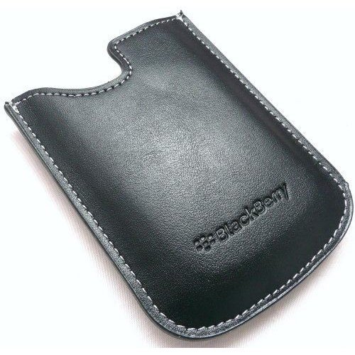 Genuine BlackBerry Black Leather Pocket Case Pouch - HDW-14090-002 (Bulk Packed)