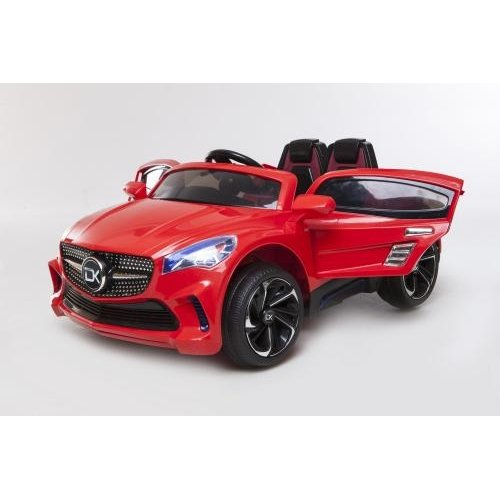 RideonToys4u Mercedes Style 12V Electric Ride on Car With Leather Seats Headlights Music Parental Remote and Safety Belt Colour Red Ages 3-6 Years