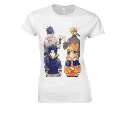 Naruto Anime Japanese Manga Anime Cool Team White Women T Shirt Top