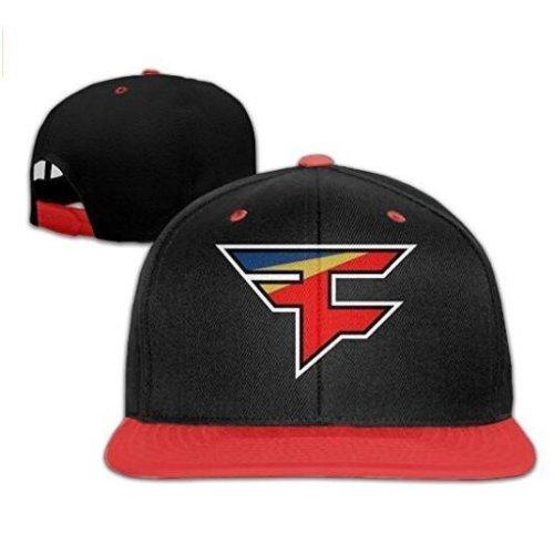 Faze Clan Team Logo Adjustable Snapback Hats / Baseball Hats Cap Red