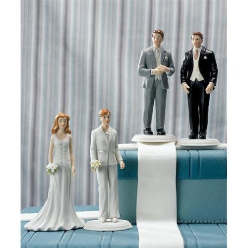 Weddingstar 8454 Fashionable Groom in Black Tux Cake Topper- Groom Only