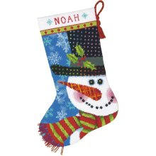 * Dimensions Needlepoint Kit -Stocking: Patterned Snowman