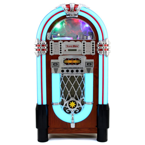 Retro Style Illuminated Jukebox Sound System