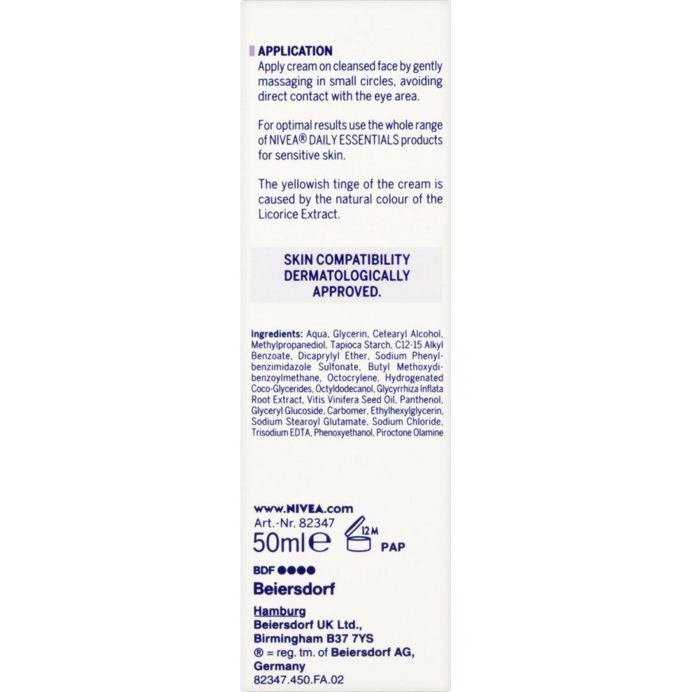 NIVEA Face Cream for Sensitive Skin, 50 ml, Pack of 2