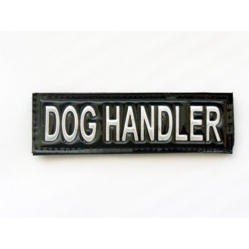 Reflective DOG HANDLER Patch -Black-10 x 3cm
