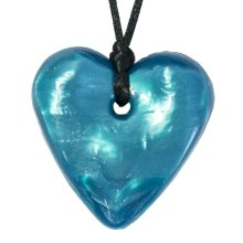 Traditional Heart Necklace Tealicious