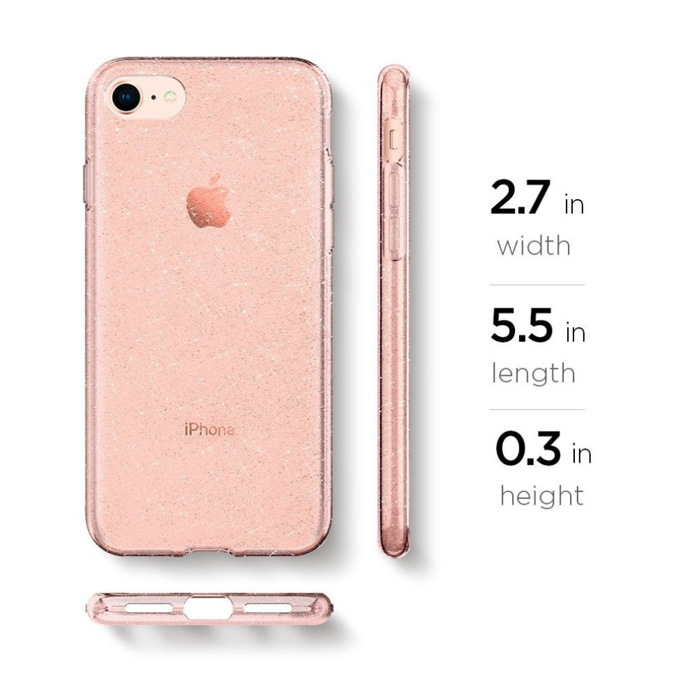 new arrival 9611f 42300 Spigen 042CS21419 Liquid Crystal Glitter iPhone 8 Case,7 Case Cover with  Glittery Sparkle and Transparent/Slim Protection and Premium Clarity for...