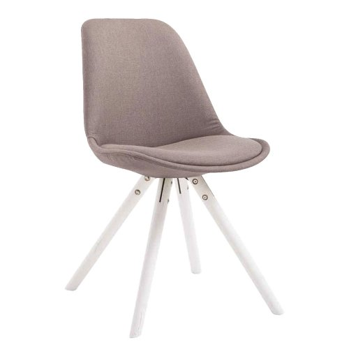 Visitor chair Toulouse cloth round white