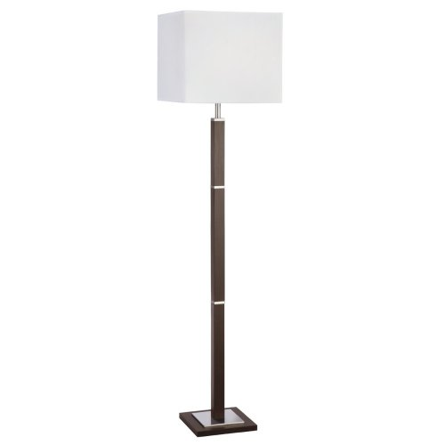 Contemporary Wall Light Brown Wood Satin Silver With Shade