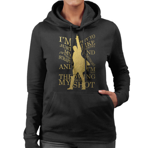 Hamilton Not Throwing Away My Shot Women's Hooded Sweatshirt