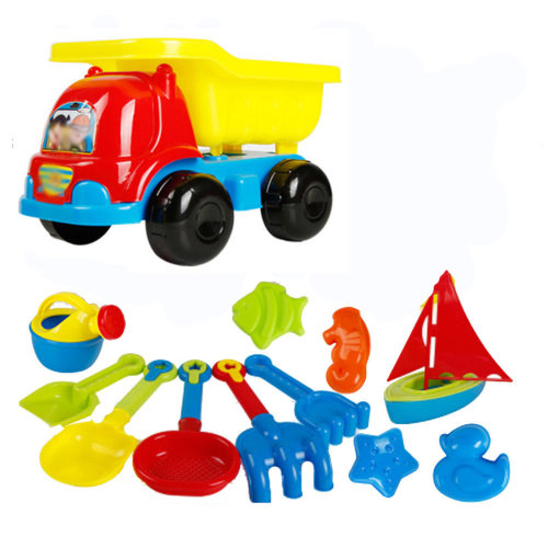 13 Piece Beach sand Toy Set, Bucket, Shovels, Rakes,Perfect for Holding Childrens' Toys#A