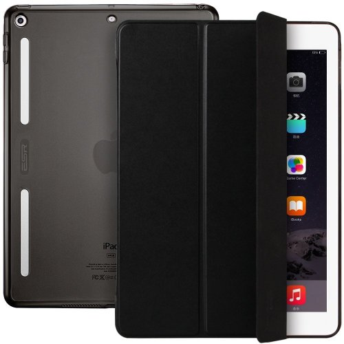 online retailer 9ce26 41f15 ESR iPad 9.7 Inch 2018/2017 Case, Soft TPU Bumper Edge [Corner Protection]  Smart Case Cover with Auto Sleep/Wake Function for Apple New iPad 9.7...
