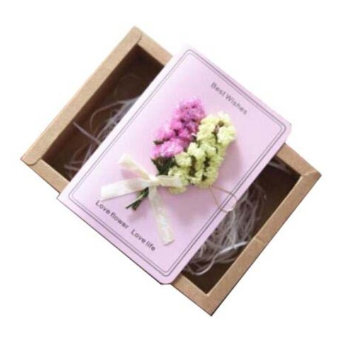Real Pressed Dried Flowers Thank You Cards for Mother's Day/Father's Day