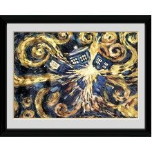 Doctor Who Exploding Tardis Framed Collector Print