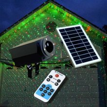 Projector LED Laser with Solar Panel and Remote Control CHRISTMAS