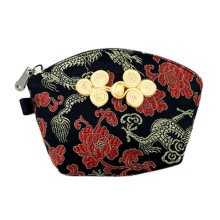 Set of 2 Traditonal Chinese Embroidered Jewelry Coin Pouch Bag Wallet Purses   P