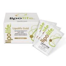 Lipolife Gold SF - formulated with Quali-C and Sunflower Lecithin - Liposomal Vitamin C - 30 Individual sachets - 1g of Vitamin C per Sachet
