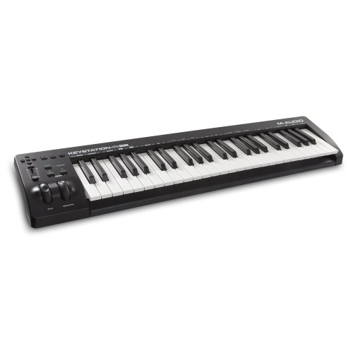 M-Audio Keystation 49MK3 - Compact 49-Key USB-Powered MIDI Keyboard Controller with Assignable Controls, Pitch/Modulation Wheels, Plug&Play...