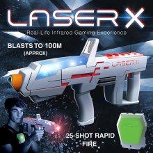 Laser X 88031 LaserX Long Range Blaster Game Real Life Gaming Experience
