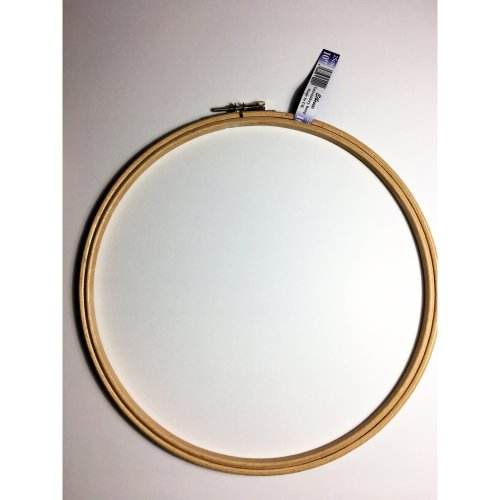 Elbesee High Quality Hardwood Embroidery Hoop with Metal Screw Fastening, 10''