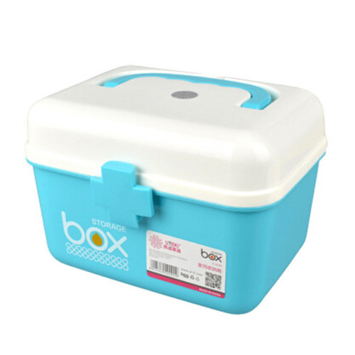 Home/Travel Portable Medicine Cabinet First-Aid Case Storage Box Pill Box Blue