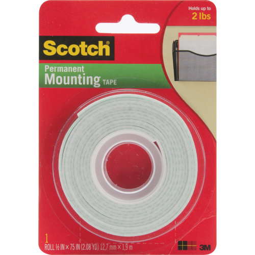 "Scotch Foam Mounting Tape-.5""X75"""