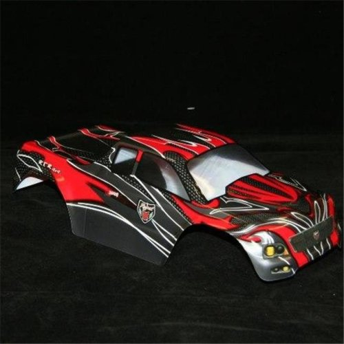 0.1 Semi Truck Body Black And Silver - Redcat RC Racing Vehicle Parts